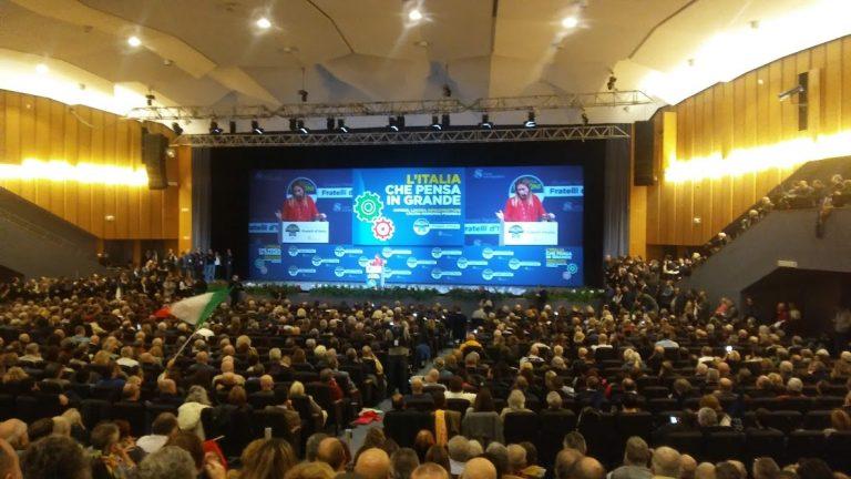 GIORGIA MELONI CHIUDE A BOLOGNA LA KERMESSE DI FRATELLI D'ITALIA SULLA MANOVRA FINANZIARIA 2019