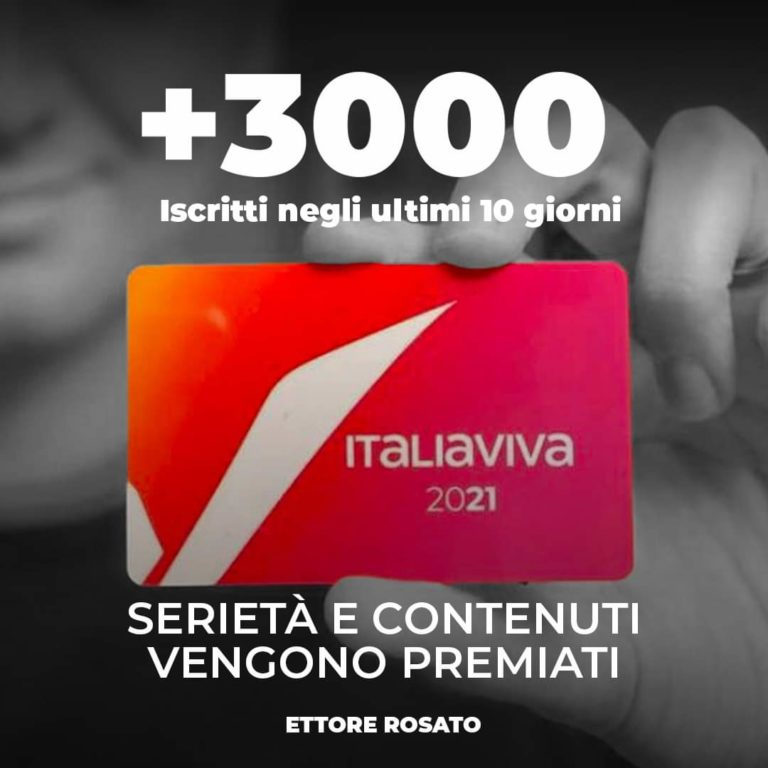 Aumento iscritti di Italia Viva.  Partono i cantieri tematici di Bologna