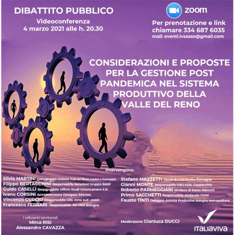 Assemblea Italia Viva Alto Reno e Appennino bolognese
